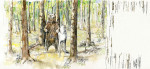 bear and wolf were walking through the forest